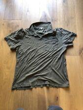 James Perse Cotton Polo Military Green Size Men's 2 Small