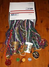 Huge Lot 15 Dozen 180 Multi Color MARDI GRAS BEADS + Cups Medallions Doubloons!