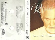 *RARE CASSETTE* With LYRICS Across My Heart ~ Kenny Rogers + More STARS 1997 VG+