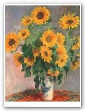 FLORAL ART PRINT Sunflowers Claude Monet 24x30