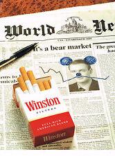 PUBLICITE ADVERTISING  1990   WINSTON   cigarettes