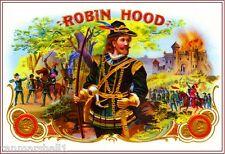 1912 Robin Hood Smoke Vintage Cigar Tobacco Box Crate Label Art Print