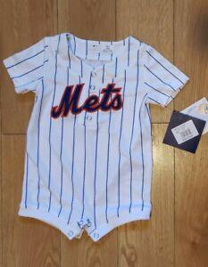 New York Mets Infant Romper White Jersey 6-9m Months MLB