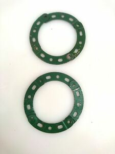 Vintage Meccano 8 X 2 1/2 in.; 1 3/8 in. radius Curved Strips Stepped (90a)