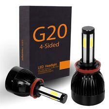 4-SIDED LED Headlight Bulbs Kit - 6000K White - Low for DODGE Durango 2011-2013
