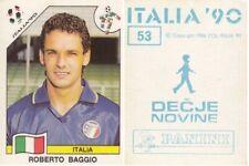 Sticker ROBERTO BAGGIO Italy FIFA WC 1990 ITALIA 90 Decje novine Yug Panini