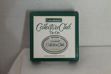 New Longaberger Collector'S Club Tie-On For Basket