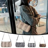 Retro Leather Women Shoulder Bag Animal Pattern Totes Travel Daily Handbags