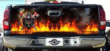 FIREFIGHTER / FIRE DEPT. FIRE RESCUE MALTESE CROSS TAILGATE DECAL WRAP VINYL