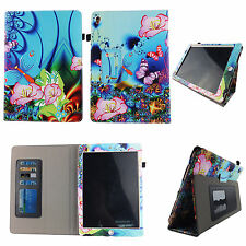 PK FLOWER BUTTERFLY FOLIO CASE IPAD MINI 4 IV SLIM FIT POCKET STANDTABLET COVER
