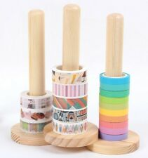 3 PCS Masking Tape Rack Wood Showing Stand Shelf Scrapbook Craft Paper Tool