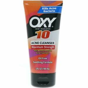 Oxy Acne Medication Maximum Action Advanced Face Wash, 5 Ounce Each