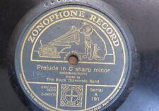 "78rpm 12"" BLACK DIAMONDS BAND rachmaninoff prelude C# min / jarnefeldt preludium"