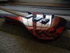 Ibanez rgr421 swirled guitar body & neck swirl black & red RG Jem Swirl