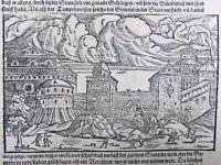 Israël Saint Jean d'Acre 1592 Terre Sainte Acco Ptolemaïs Haïfa Rare Gravure