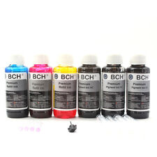 Premium Bulk Refill Ink 600 ml Pigment Black + Photo Dye Color for HP Printer 3P