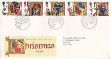 12 NOVEMBER 1991 CHRISTMAS ROYAL MAIL FIRST DAY COVER BETTER BETHLEHEM SHS
