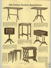1934 PAPER AD Revolving Book Table Case Colonial Drum Table Duncan Fhyfe