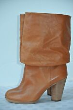 NEW Marc by Marc Jacobs Womens 38 / 7.5 Brown Leather Slouch Mid Calf Boots $549