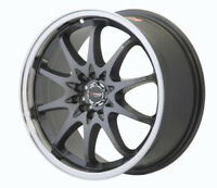 "DRAG DR9 18"" x 7J ET40 5x100 5x114.3 GUN METAL POLISHED LIP ALLOY WHEELS Z2023"