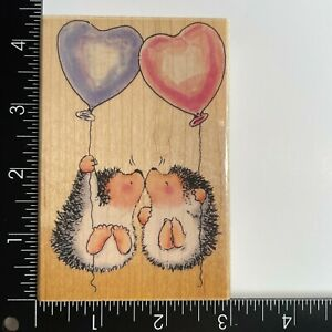 Penny Black Hedgehog Kisses 1301K Wood Mounted Rubber Stamp