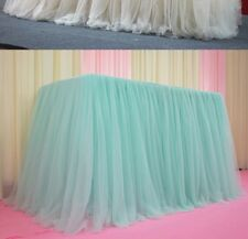 Tutu Tulle Table Skirt Tablecloth Wedding Birthday Party Baby Shower Home Adorn
