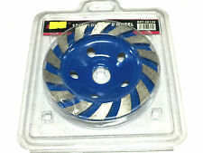 """5"""" 125mm Turbo Diamond Grinding Disc Grinder Cup Wheel Stone Marble Concrete"""