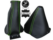GREEN STITCHING CARBON FIBER LOOK GEAR & HANDBRAKE BOOTS FITS 300ZX 1989-2000
