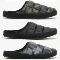 Shuperb IURY Mens Slip On Comfort Football Cushioned Novelty Slippers Black//Red