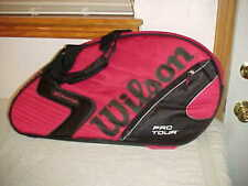 New w/Tags Tennis Wilson (K) Pro Tour Super Six Pack Carry / Backpack Bag