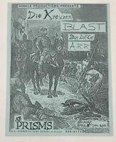 Original Vintage Die Kreuzen Blast Punk Rock Concert Flyer 1987 Chandler Arizona