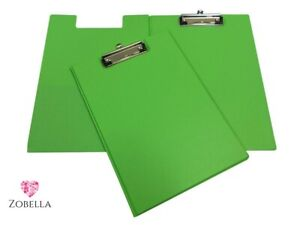 Foldover PVC A4 Clipboards - Various Bright Colours and sizes