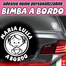 ADESIVO BIMBA A BORDO - nome personalizzabile a scelta - auto infanzia premaman