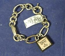 Brighton My Flat in London Love Locks JB5932 S/P Padlock Charm Bracelet NWT