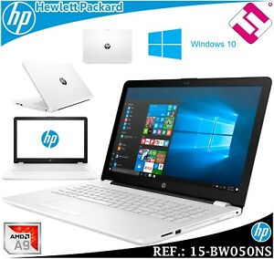 Laptop HP 15-BW050NS AMD A9 9420 3GHZ 15.6 12GB RAM 1TB Wifi BT W10 Dual Core