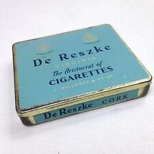 Vintage DE RESZKE TOBACCO TIN Virginia The Aristocrat of Cigarettes