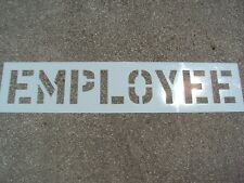 """12"""" Employee Parking Lot Stencil, 1/16"""", (.063"""") Ldpe with Ups to Pa"""