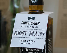 Rustic white Personalised 'Will you be my Best Man' bottle tag