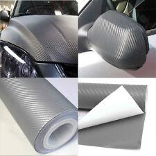 127*30cm Car Light Gray DIY 3D Carbon Fiber Sheet Wrap Paper Vinyl Film Sticker