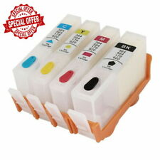 4 PK Empty Refillable ink cartridge with chip for HP 920 XL OfficeJet 6500 6500a
