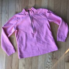 Tommy Bahama 1/2 Zip Pink Long Sleeve Pullover Sweater