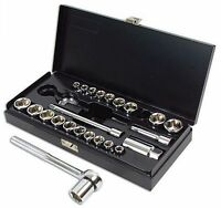 Kamasa POLISHED 3/8 Dr Metric AF Imperial Mix Socket Ratchet Tool Set