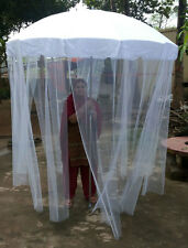 HAND MADE WEDDING WHITE UMBRELLA GARDEN PARASOLS INDIA DECORATIVE BRIDAL SHOW