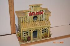 Hand made Painted and Decorated Western Saloon wooden Birdhouse
