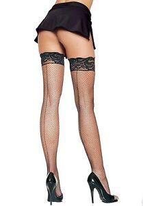 Women's, Stay Up Spandex Fishnet Stockings. Leg Avenue 9035