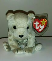 Ty Beanie Baby - ALMOND the Beige Bear (7 Inch) MINT with MINT TAGS