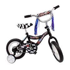 "Micargi MBR 12"" Bike Kids Boys BICYCLE w Training Wheels Streamers BLACK + BONUS"
