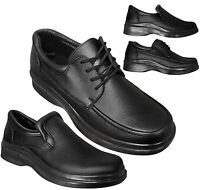 New Men's Oxford Loafer Comfort Casual Dress Shoes Slip On Lace Up BLACK 7 to 12