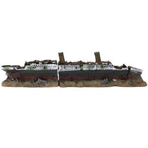 Titanic Lost Wrecked Boat Ship Aquarium Decoration Ornament Wreck Ornaments