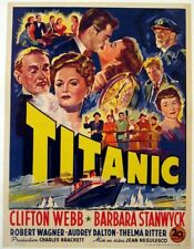 16mm Feature-TITANIC-1953-Barbara Stanwyk-Clifton Webb-Robert Wagner!